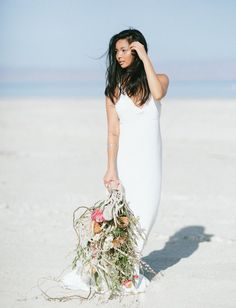 Delphine Manivet dress + wild desert bouquet