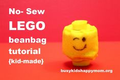 LEGO head beanbag tutorial.  Fun for all the lego-maniacs!
