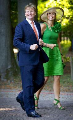 King Willem-Alexander and Queen Maxima of the Netherlands in Apeldoorn on 5 Sep 2013.