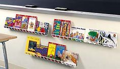 Book Channels - Display books and periodicals on your unused wall space. Set of [Update: we no longer carry this product- but have them in Library Organization, Library Displays, Wall Spaces, Display Ideas, Classroom Ideas, Diy Furniture, Coding, Storage, Books