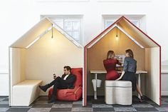 The Office Hut being used as a work booth
