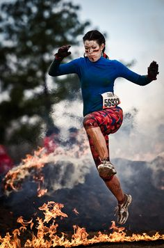 Tough Mudder Georgia 2012. Hope I'm that calm jumping over flames lol