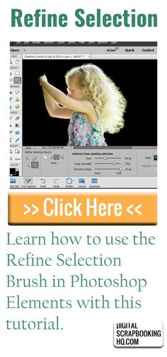 How to Create A Precise Selection in Photoshop Elements http://www.digitalscrapbookinghq.com/how-to-create-a-precise-selection-in-photoshop-elements/ #digiscrap #scrapbooking #tutorial