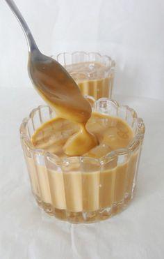 Crème dessert au caramel façon Danette lait 2 jaunes d oeufs  maïzena  crème