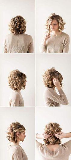 cabello rizado corto paso a paso