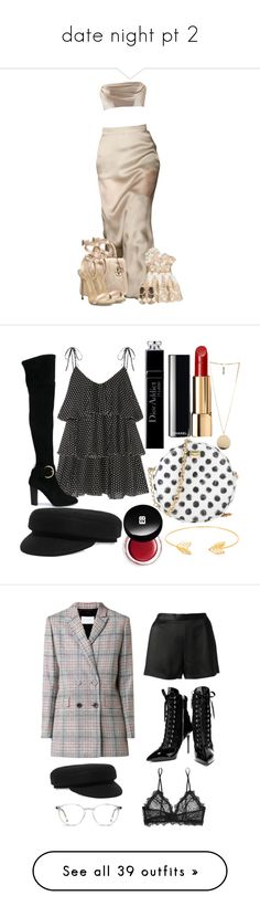"""""""date night pt 2"""" by dreaml-like-you-mean-it ❤ liked on Polyvore featuring Giuseppe Zanotti, Dolci Follie, Armani Junior, Lisa Marie Fernandez, Dolce&Gabbana, Isabel Marant, Lord & Taylor, Givenchy, Chanel and Christian Dior"""