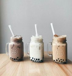Cafe du Monde Boba Kit for Making Iced Coffee with Black Tapioca Bubble Pearls and Bag Clip from Hanover Shops Collection, Kit B … - Health Food Bubble Tea, Yummy Drinks, Yummy Food, Tasty, How To Make Ice Coffee, Making Coffee, Milk Shakes, Aesthetic Food, Aesthetic Coffee
