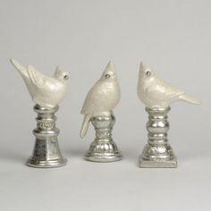 Silver Bird Finial Statue | Kirkland's