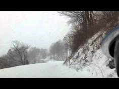 quattro snow fun on a curvy hill road | Audi A4 Avant quattro