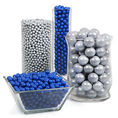 Blue and silver candy buffet, great for a Winter wedding reception!