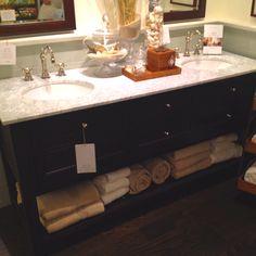 Double master bath vanity. Pattern Barn.
