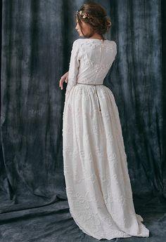 Rabia / Rustic wedding dress-long sleeve wedding dress with sleeve country Alternative-wedding dress boho wedding dress bohemian wedding