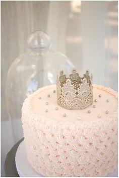 Pink crown cake, ADORE. #stylishkidsparties
