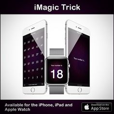 iMagic Trick is available for the iPhone iPad and Apple Watch.  Perform the trick on your iPhone and reveal the magic number on your Watch.   Check it out: www.appstore.com/imagictrick  #magic #app #iphone #trick #applewatch #apple #apps #apple_watch #applewatchapp #magictrick #imagictrick #watchos #iwatch #ios #ios9 #appstore #itunes #applestore #downloadnow #applewatchfans #iphone6 #iphone6s #iphone6plus #iphone6splus #ipad #ipadair #ipadpro #appletv #applewatchedition #applewatchsport by…