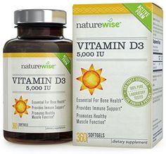 NatureWise Vitamin D3 5,000 IU In Organic Olive Oil, Non-GMO, USP Grade, 360 #NatureWise
