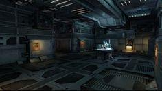 Sci-Fi Environment - Joshua Andersen Sci Fi Environment, Shadowrun, Sci Fi Fantasy, Sci Fi Art, Corridor, Roxy, Concept Art, Buildings, Walls
