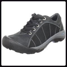 Keen Presidio Damen Halbschuh Schnürschuh Leder Freizeit schwarz,  Schuhgröße:EUR 36 - Schnürhalbschuhe für