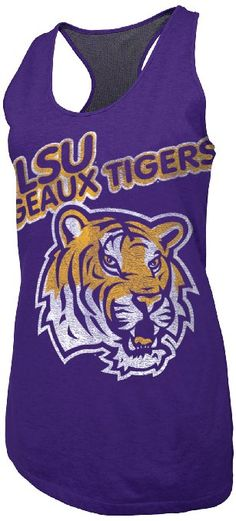 Amazon.com: NCAA LSU Tigers Women's Warm Up Racerback Tank Top, Purple Heather, Small: Clothing