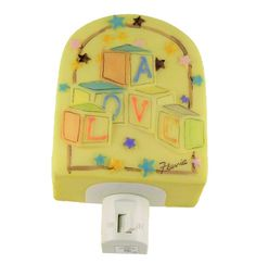 Decorative A Love Spelled Block Toy Hand Painted Night Light -- More info could be found at the image url-affiliate link. #NurseryNightLights