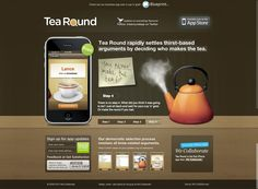 Tea round app - great interactive, modern design