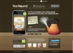 Tea round app - great interactive, modern design