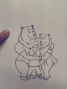 Three bears Tattoo Design
