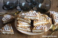 Norwegian Food, Fika, Cake Recipes, Side Dishes, Sweet Tooth, Food And Drink, Tasty, Sweets, Homemade