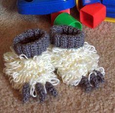 Crochet monster slippers- FREE!