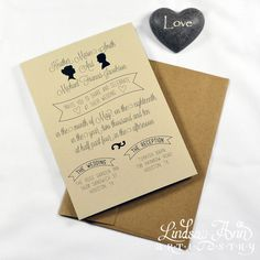 Love it too! Organic Silhouette Wedding Invitation Cards by LindsayAnnArtistry, $1.90