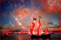White Nights Festival/Scarlet Sails, St.Petersburg, Russia