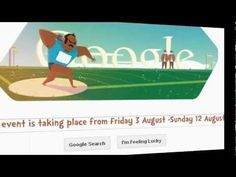London 2012 Shot Put - Eighth Day Doodle from Google for London 2012 Olympics