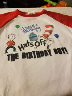 Happy 1st Birthday shirt I made for Lil Fox