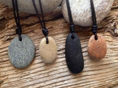 Cape Cod beach stone jewelry by KEM Designs - schmuck - Driftwood Jewelry, Seashell Jewelry, Beach Jewelry, Sea Glass Jewelry, Rock Necklace, Rock Jewelry, Stone Jewelry, Jewlery, Stone Necklace