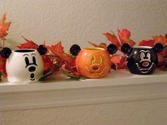 Halloween Mickey Candle Holders Halloween Candles, Halloween Stuff, Disney Stuff, Mickey Mouse, Candle Holders, Turkey, Party Ideas, Holidays, Fall