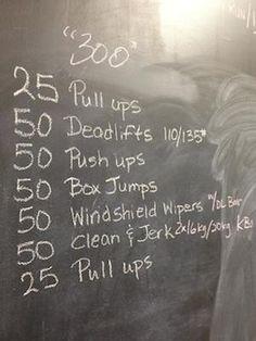 25 pull ups, 50 DLs, 50 push ups, 50 box jumps, 50 windshield wipers, 50 C&J, 25 pull ups