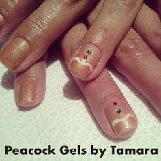 Gingerbread Men Manicure Nail Art!