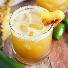 Grilled Pineapple Jalapeno Margarita - Made with jalapeno infused vodka
