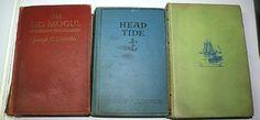 3 Vintage Joseph Lincoln Books, Back Numbers, Head Tide, The Big Mogul