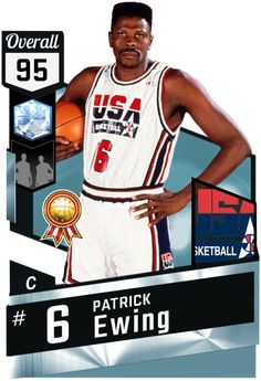 9f7704d0d Patrick Ewing (95) MyTEAM Diamond Card Basketball Goals