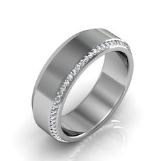 Mens Wedding Band with Diamonds http://karatjewelrygroup.com/