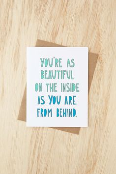 Near Modern Disaster Beautiful Behind Card - Urban Outfitters