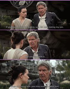 Not a Reylo shipper until I see a DNA test but this is funny.