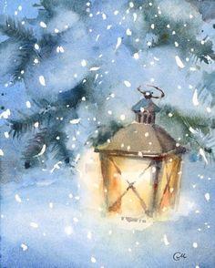 Lantern Watercolor More