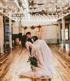 Farmhouse Touches in a romantic wedding.