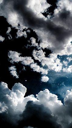 Clouds Wallpaper Iphone, Night Sky Wallpaper, Phone Wallpaper Images, Cloud Wallpaper, Iphone Wallpaper Tumblr Aesthetic, Wallpaper Space, Cute Patterns Wallpaper, Scenery Wallpaper, Aesthetic Pastel Wallpaper