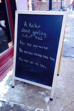 A Deep, Meaningful Haiku. This speaks to me on a spiritual level. LOL