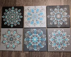 "17 Likes, 1 Comments - Tammy Swanson (@tjs920) on Instagram: ""The entire set together. Each one is 8in x 8in square. I sure hope she likes them! #mandala…"""