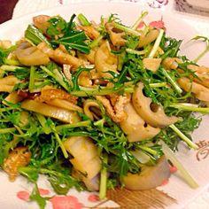 マクロビオティックのレシピです。ヘルシーで自分力アップしますよ❗️ - 106件のもぐもぐ - マクロビ 水菜と蓮根のきんぴらサラダ by norikotominaga