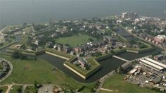 View of Historical Fort Monroe, Va now a national monument.