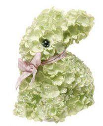 """RAZ Imports - 4"""" Green Hydrangea Easter Bunny"""